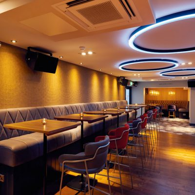 Cinnabar main bar and seating